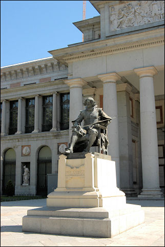 Spain, Madrid - Statue of Diego Velázquez in front of the Prado