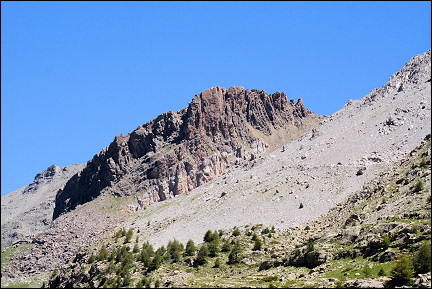 France, Hautes-Alpes - Peak at 2820 meters in desolate landscape