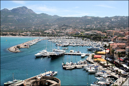 France, Corsica - View of Calvi from citadel