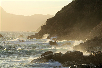 France, Corsica - Rough sea at Porto