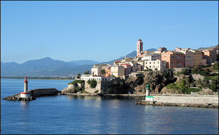France, Corsica - Departure from Bastia port