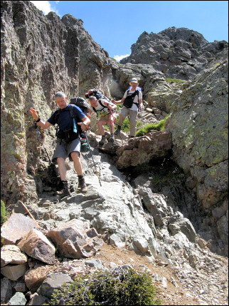 France, Corsica - Long descent to the Carozzu cabin