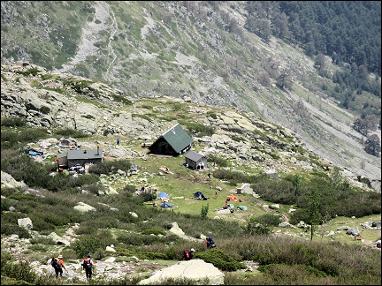 France, Corsica - Refuge Petra Piana with annexes