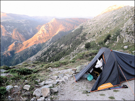 France, Corsica - Waking up on the plain in front of the Usciolu cabin