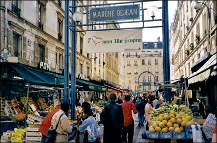 France, Paris - Market Boulevard Barbès