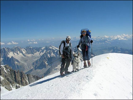 France, Haute-Savoie, Rhône-Alpes - At the top of Mont Blanc