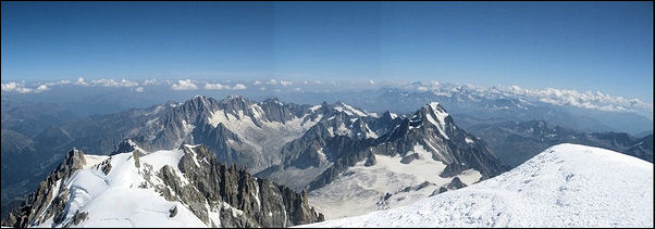 France, Haute-Savoie, Rhône-Alpes - View from the top of Mont Blanc