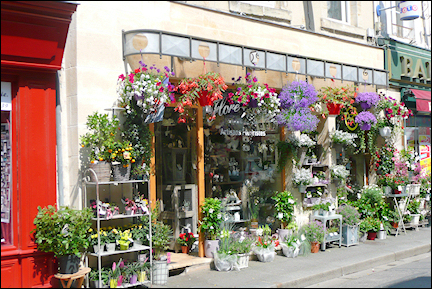 France, Normandy - Flower shop on D-Day
