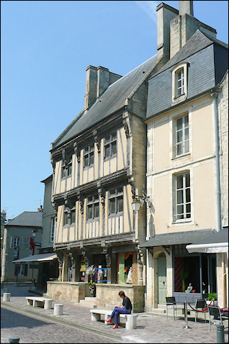 France, Normandy - Medieval house in Bayeux