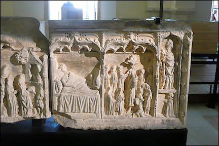 France, Normandy - Altar detail, Municipal Museum