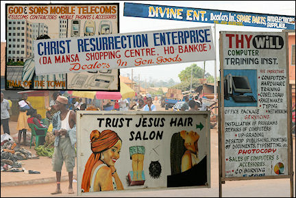 Ghana - Collage Christian signs