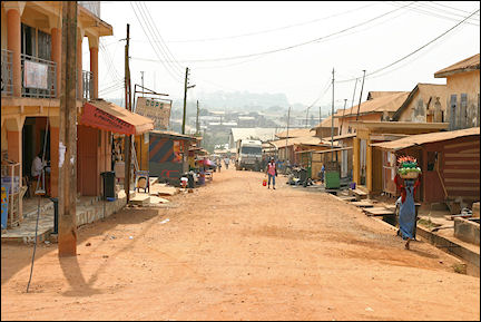 Ghana, Bekeym - View of village