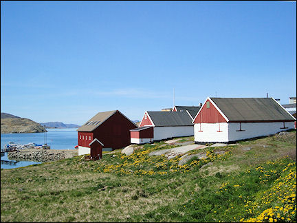 Greenland - Colonial houses near museum Narsaq