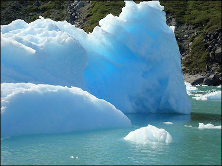 Greenland - Transparant blue ice in Qooroq ice fjord
