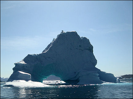 Greenland - Arc de Triomphe in Qooroq ice fjord