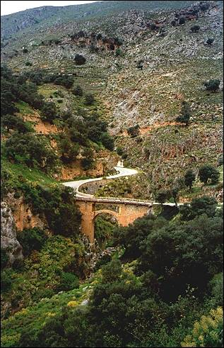 Greece, Crete - Bridge between Ano- and Kato Rodakina