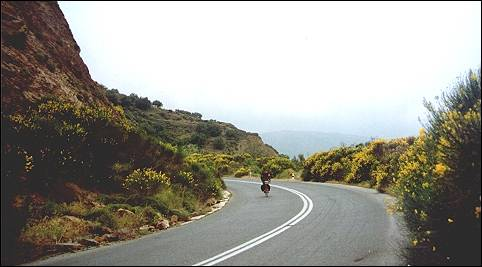 Greece, Crete - Orinó, bicycling in the  clouds