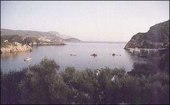 Greece, Corfu - Some of the bays in Paleokastritsa