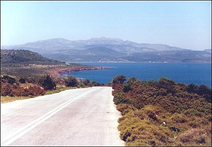 Greece, Lesbos - View of the Lepetimnos Mountains