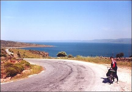 Greece, Lesbos - Descent to the Gulf of Kallonis