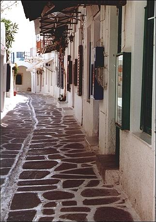Greece, Cyclades, Paros - Old Market Street
