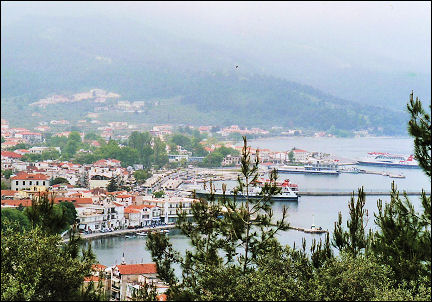 Greece, Thassos - View of the port of Limenas