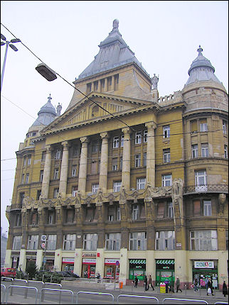 Hungary, Budapest - Building with Empire style