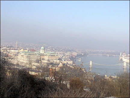 Hungary, Budapest - View from Citadella lookout