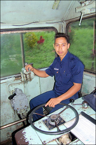 Indonesia, Java - Diesel train