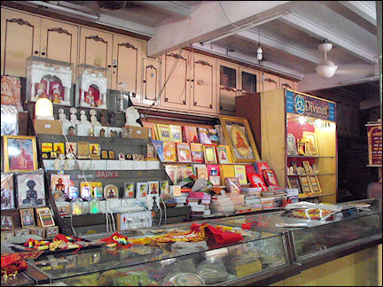 India, Delhi - The book store inside Sri Digamber Lal Jain Mandir