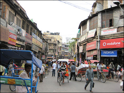 India - Delhi, crowds and chaos in Old Delhi