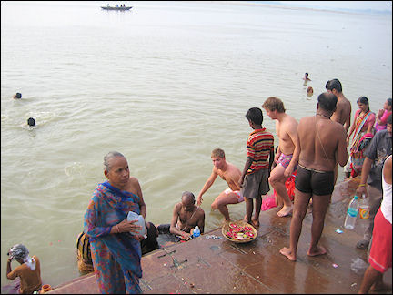 India - Varanasi, washing away sin in the Ganges