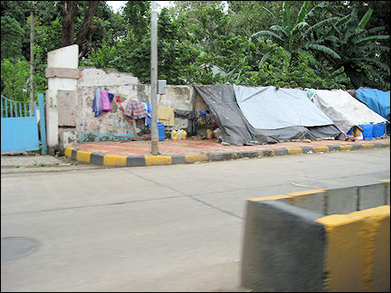 India - Mumbai, bizarre living circumstances