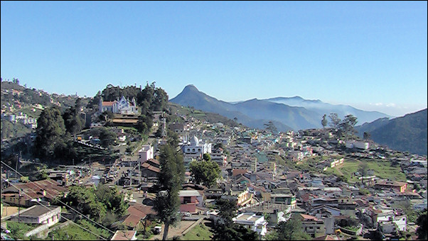 India, Kodaikanal - Part of the city is built on the mountain slopes