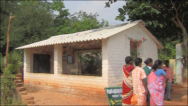 India, Mamallapuram - School in nearby village