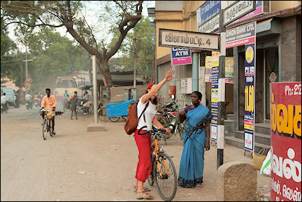 India, Tamil Nadu - Sivakasi, Gerrie asks for directions