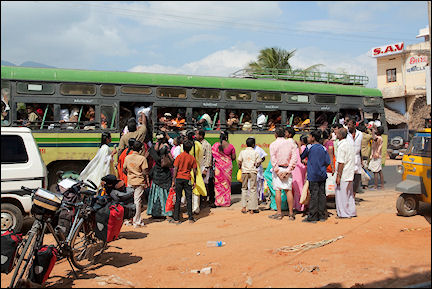 India, Tamil Nadu - Kanyakumari, full bus