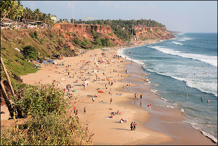 India, Kerala and Karnataka - Varkala, beach