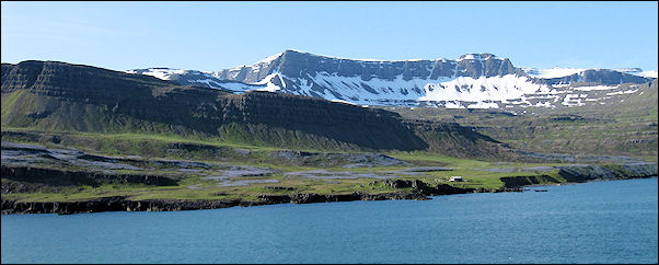 Iceland - The 16 km long, snaking fjord Seydisfjordur