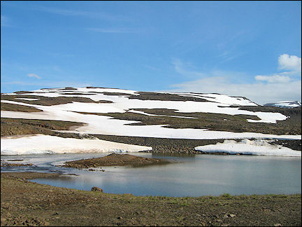 Iceland - Snow on the Fjarðarheiði Pass