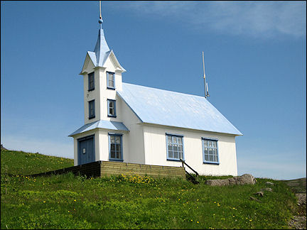 Iceland - Stoduarfjordur, church converted into hotel