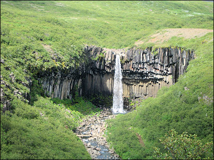 Iceland - Svartifoss with its basalt organ pipes