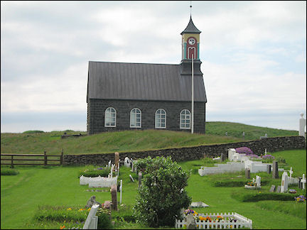 Iceland - Hvalsneskirkja and churchyard