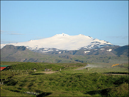Iceland - The Snaefellsjokull dominates the whole area