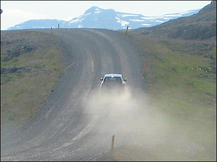 Iceland - Cars kick up dust