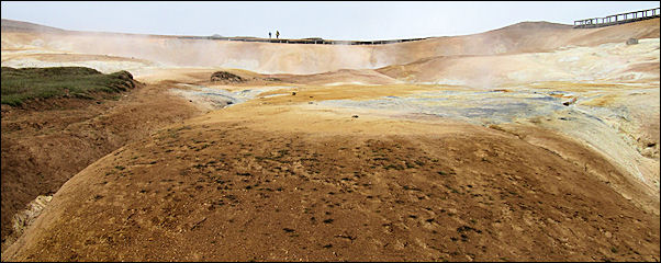 Iceland - Leirhnjukur, field with mud pots and solfatars