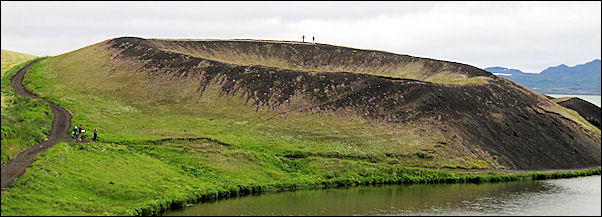 Iceland - Skutustadir, pseudo-crater on Lake Myvatn