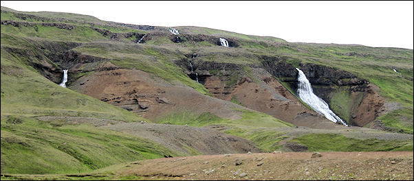 Iceland - Waterfalls along road #1 to Egilsstadir