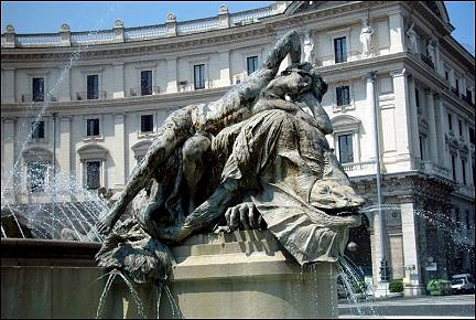 Italy, Rome - Fountain on Piazza della Republica