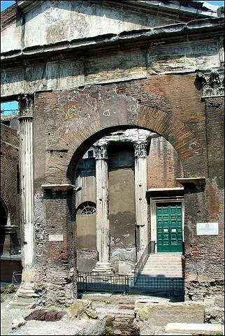 Italy, Rome - Former entrance to the Jewish ghetto